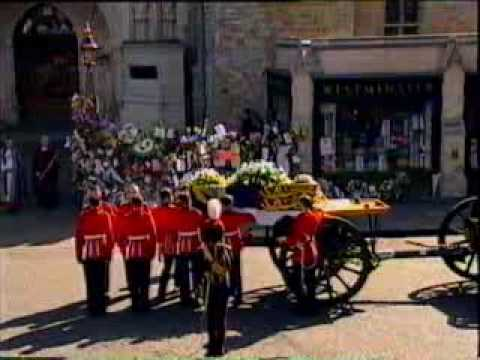 Princess Diana's Funeral Part 13: The Service Begins
