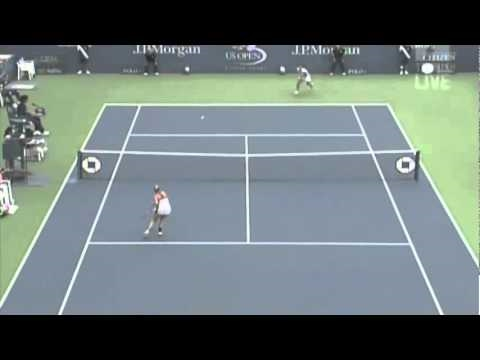 Francesca Schiavone Amazing Shot at the US Open 2010
