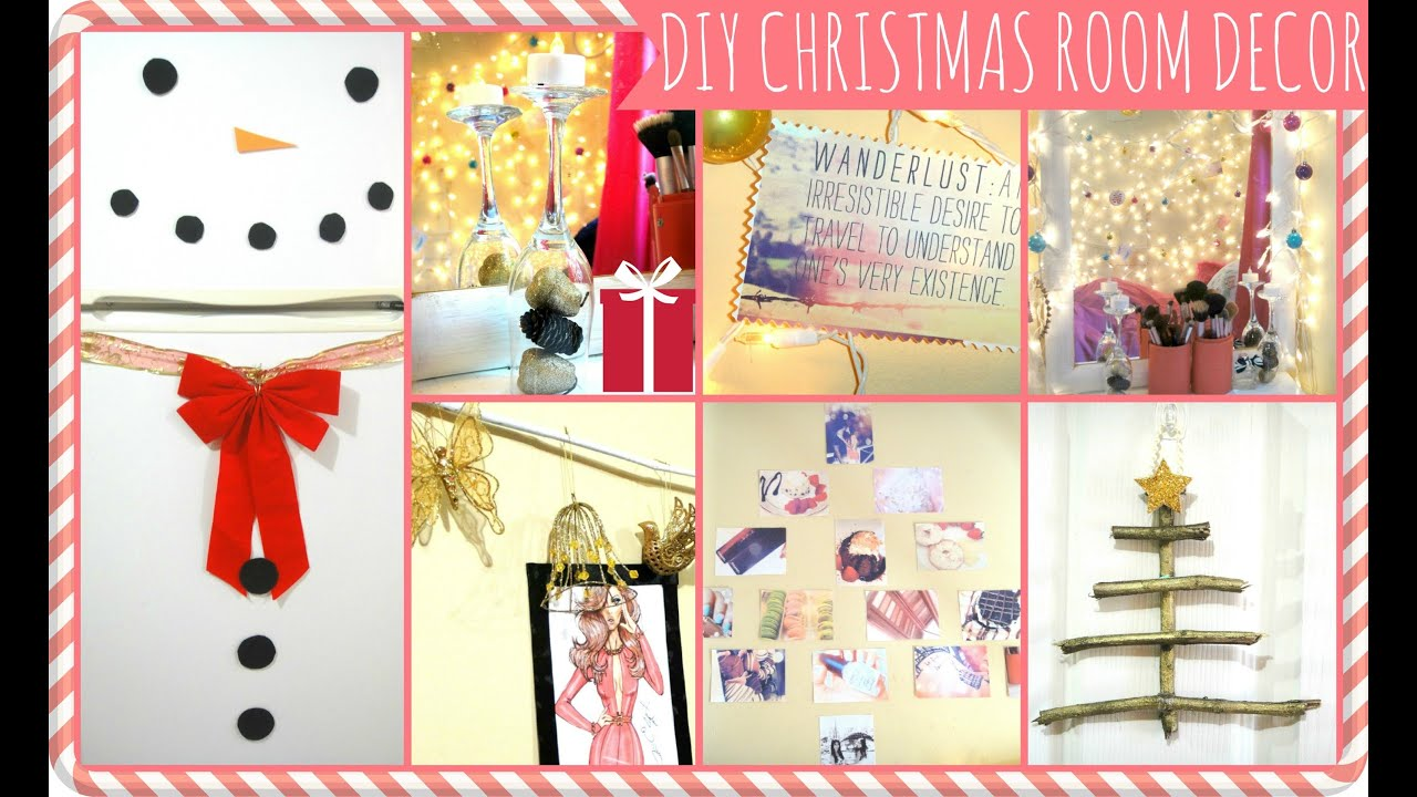 Easy diy christmas d cor ideas dormspiration youtube for Simple home decor for christmas