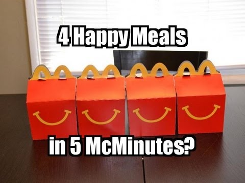 4 McDonald s Happy Meal Challenge in 5 minutes?