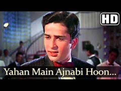 Yahan Main Ajnabi Hoon from Jab Jab Phool Khile