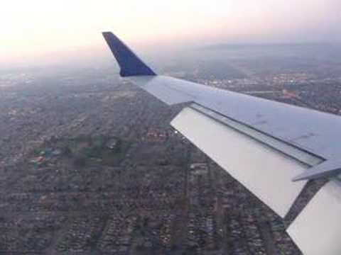 skywest/united express airlines crj 700 landing in los angeles from tucson, flight#6517, reg#N767SK, seat#17A, date:031307.