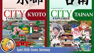 City Explorer: Kyoto and Tainan — game overview at SPIEL '18