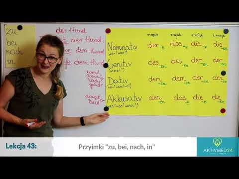 Niemiecki Dla Opiekunek Seniorów: Lekcja 43 - Przyimki