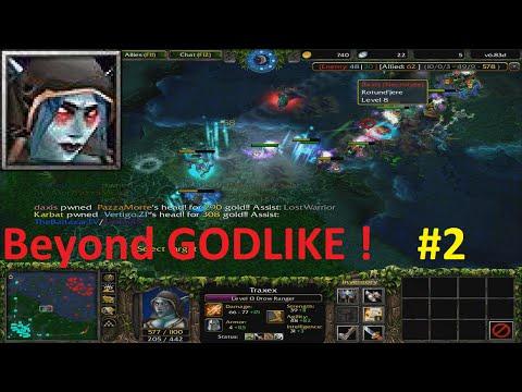DotA 6.83d - Traxex, Drow Ranger Beyond GODLIKE ! #2