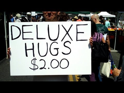 Free Hugs Prank: $2 Deluxe Hugs Video