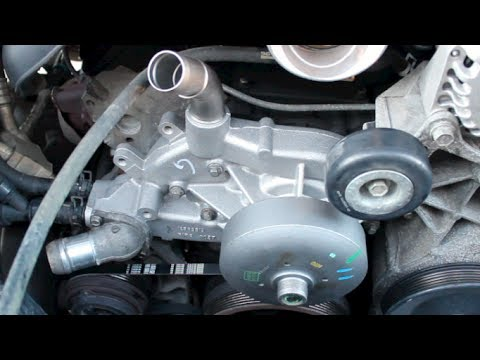 HOW TO REPLACE INSTALL WATERPUMP GMC YUKON 2002-2006