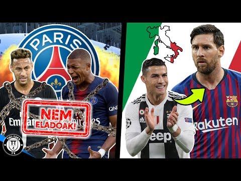 Ronaldo üzent Messinek! A PSG Bejelentést Tett Neymarról és Mbappéról! | Foci Hírek