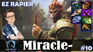Miracle - Monkey King Offlane | EZ RAPIER | Dota 2 Pro MMR Gameplay #10