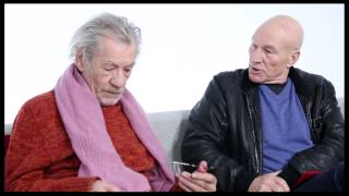 "Besties Ian McKellen & Patrick Stewart on Envy, ""Star Trek"" Costumes & the 'Gandalf Face'"