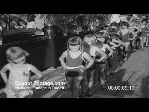 HD Stock Footage Tom Thumb Junior Beauty Contest 1930's Newsreel thumbnail