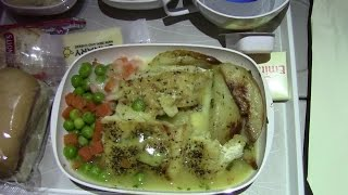 EMIRATES A380 DINNER MEAL ON BOARD