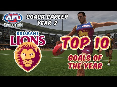 TOP 10 GOALS OF THE YEAR - AFL Evolution: Coach Career (Year 2)