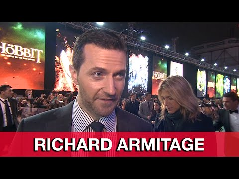 Richard Armitage Thorin Interview - The Hobbit 3: The Battle of the Five Armies World Premiere