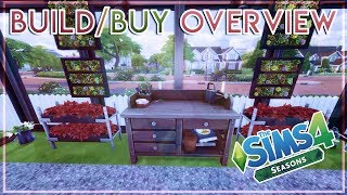 BUIL/BUY OVERVIEW ☔☀️🌨️❄️ | The Sims 4 Seasons Expansion Pack