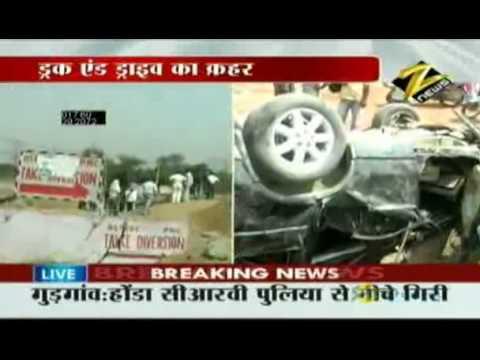Bulletin # 2 - Speeding car turns turtle in Gurgaon May 17 '10