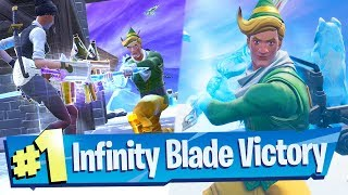 NEW Infinity Blade Gameplay (Solo Victory) - Fortnite Battle Royale