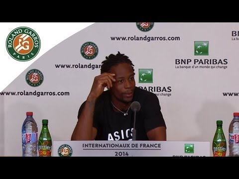 Press conference Gael Monfils 2014 French Open R2