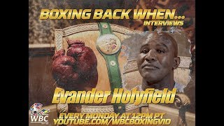 Evander Holyfield Boxing back when...