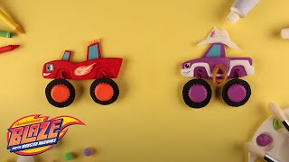 Crafting Light Riders w/ Blaze & Starla | Blaze and the Monster Machines | Nick Jr.