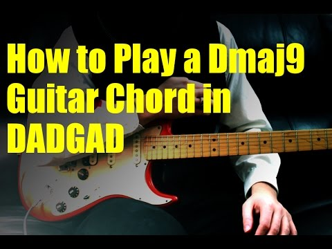 How to Play a Dmaj9 Guitar Chord in DADGAD