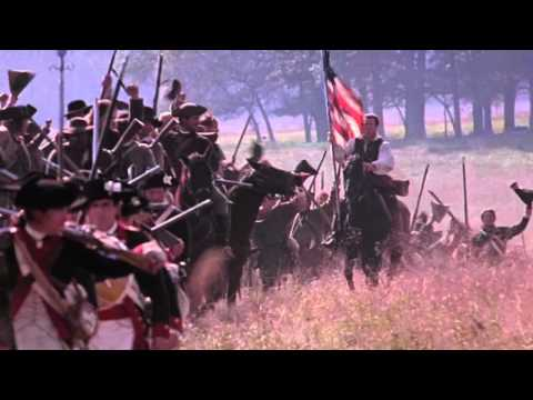FLAG scene from THE PATRIOT Mel Gibson movie