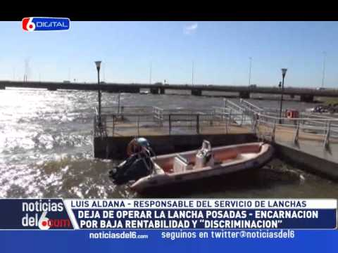 30-01-15 ALDANA - Suspenden el servicio de lanchas