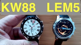 KINGWEAR KW88 vs LEMFO LEM5 - Which should you buy?