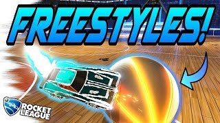 Rocket League Goals: FREESTYLES ON HOOPS + FUNNY MOMENTS! (Gameplay Highlights Montage/Compilation)