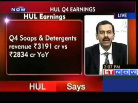 HUL Q4 Net Profit Up 15 % at Rs 787 Crore