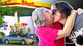 Kissing Gas Station Ladies