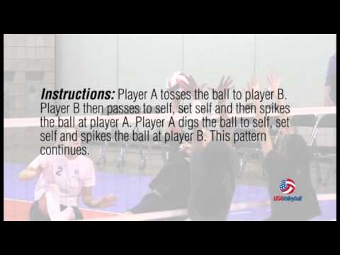 USAV Drill Video Dig and Set to Self Pepper - No Net