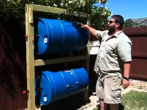Homemade Double Barrel Composter