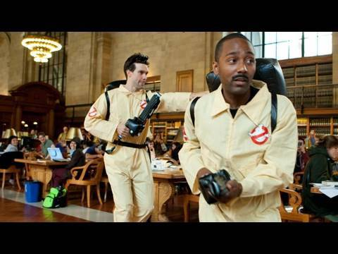 Thumb Improv Everywhere: Ghostbusters in The New York Public Library
