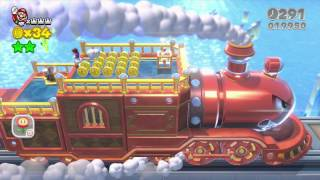 Super Mario 3D World ~ World 3-Train Green Star & Stamp Guide