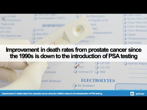 Improvement in death rates from prostate cancer since the 1990s is down to the introduction of PSA