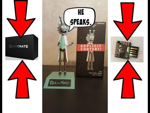 Digispark Arduino DFplayer Mini MP3 chip Rick & Morty Peace Among Worlds Loot Crate Figurine Mod