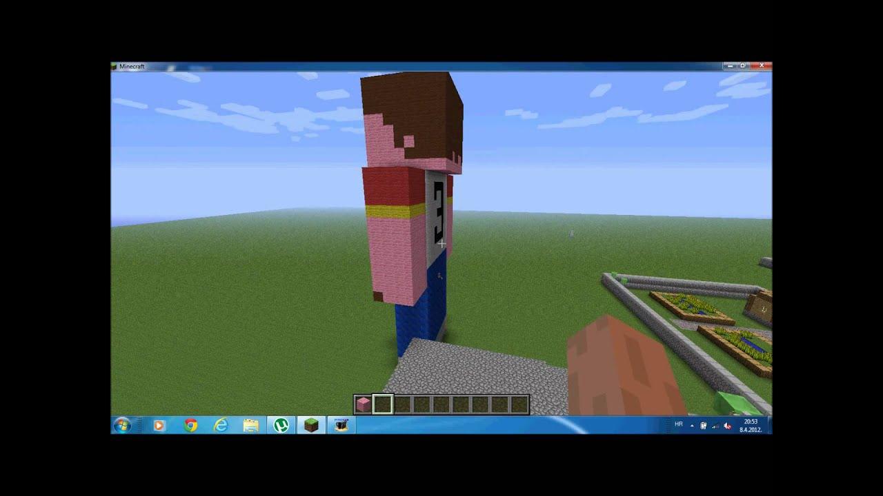 Minecraft Epic Peeing Statue YouTube
