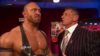 Mr McMahon Backstage w/ Ryback and John Cena about CM Punk  WWE Raw 10/15/12