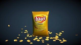 How to model and animate potato chip bag in Cinema 4D - Part 1