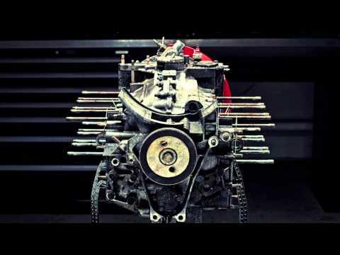 Motor Porsche desmontado Peça por Peça