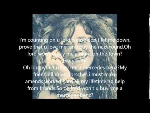 Mercedes benz by janis joplin with lyrics youtube for Janis joplin mercedes benz lyrics