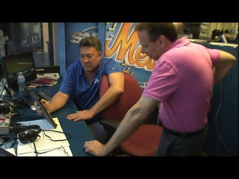 SNY: Gary Cohen and Ron Darling Time Lapse During Rain Delay