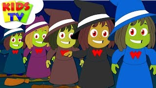 Five Wicked Witches Halloween Songs For Kids   Scary Nursery Rhymes For Children By Kids Tv