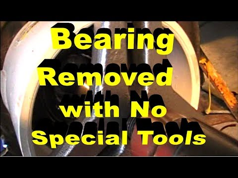 Rear Wheel Bearing Removal With No Special Tools BMW 325i