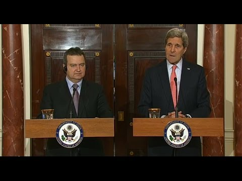 Secretary Kerry Delivers Remarks With Serbian Foreign Minister Dacic