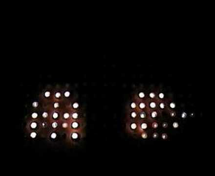 Stop motion with candles (pac man,space invaders, tetris...)