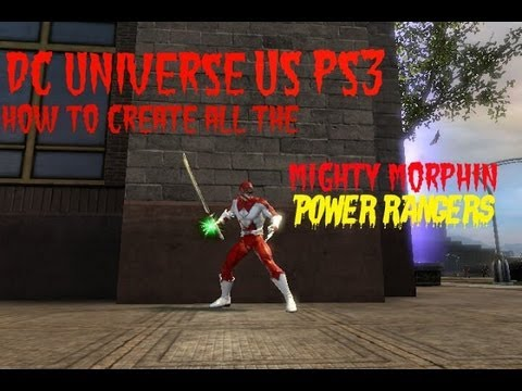 DC Universe Online US PS3 How to create all the Mighty Morphin Power Rangers