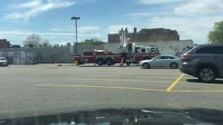 FDNY Tower Ladder 172 Firetruck Hydraulic Equipment Test