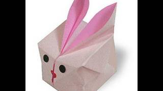 How To Make Cute Easy Inflatable Bunny Cube Origami ふうせんうさぎ折り紙 Conejo De Grasa